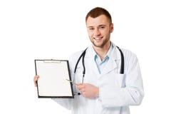 Jonge mannelijke arts Stock Foto's