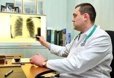 Jonge mannelijke arts Stock Foto