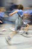 Jonge Mannelijke Atleet in Motie Royalty-vrije Stock Afbeelding