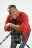 Jonge mannelijke fotograaf. Royalty-vrije Stock Afbeelding