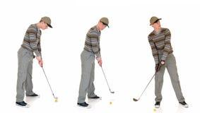 Jonge mannelijke golfspeler royalty-vrije stock foto