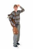 Jonge mannelijke golfspeler royalty-vrije stock afbeelding