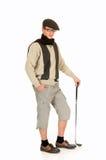 Jonge mannelijke golfspeler stock foto's