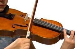 Jonge meisje het spelen viool Stock Afbeeldingen