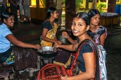 Jonge Meisjes Gemaakt tot Batik Stock Afbeelding
