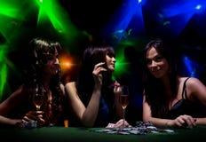 Jonge meisjes op disco Royalty-vrije Stock Foto