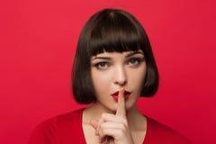 Jonge meisjesgeheimen Stilteachtergrond stock afbeeldingen