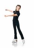Jonge meisjeskunstschaatsen Stock Afbeelding