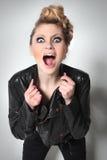 Jonge meisjesschreeuwen Stock Fotografie