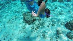 Jonge meisjesscuba-duiker stock video