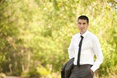 Jonge mens buiten Stock Foto's