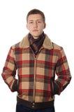Jonge mens in de winterdoek Royalty-vrije Stock Afbeelding