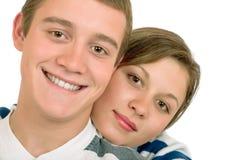 Jonge mens en meisje Stock Foto