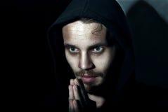 Jonge mens het bidden Stock Foto