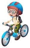 Jonge mens het biking royalty-vrije illustratie