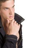 Jonge mens het denken Stock Foto's