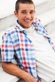 Jonge mens het glimlachen Royalty-vrije Stock Afbeelding