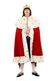 Jonge mens in het koninklijke kostuum Royalty-vrije Stock Afbeeldingen