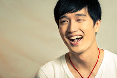 Jonge mens het lachen Stock Foto