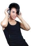 Jonge mens het luisteren muziek Stock Afbeelding