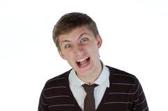 Jonge mens het schreeuwen Royalty-vrije Stock Foto's