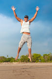 Jonge mens het springen Stock Fotografie