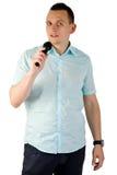 Jonge mens het zingen Stock Fotografie