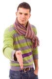 Jonge mens klaar voor handdruk Stock Fotografie