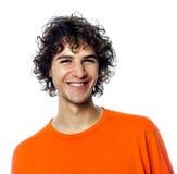 Jonge mens knap het glimlachen portret royalty-vrije stock afbeelding