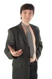 Jonge mens in kostuum en stropdas Royalty-vrije Stock Foto's