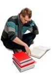 Jonge mens met boek Stock Foto's