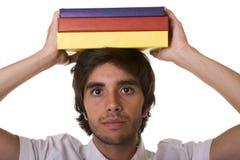 Jonge mens met boek Stock Afbeeldingen