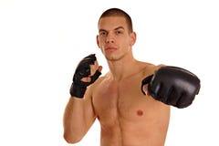 Jonge mens met boksers Royalty-vrije Stock Afbeeldingen