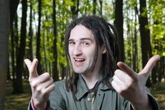 Jonge mens met dreadlockhaar. Royalty-vrije Stock Foto