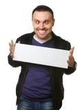 Jonge mens met gekke glimlach Royalty-vrije Stock Foto