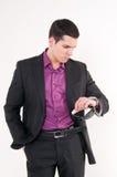 Jonge mens met glazen Royalty-vrije Stock Afbeelding