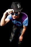 Jonge mens met hoed royalty-vrije stock fotografie
