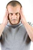 Jonge mens met hoofdpijn Royalty-vrije Stock Afbeelding