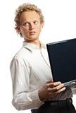 Jonge mens met laptop Royalty-vrije Stock Foto