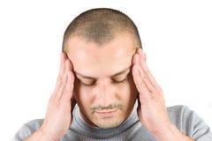 Jonge mens met migraine Royalty-vrije Stock Fotografie