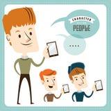 Jonge mens met smartphone Royalty-vrije Stock Afbeeldingen