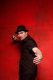 Jonge mens met zwaard Royalty-vrije Stock Fotografie