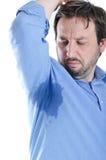 Jonge mens met zweetsleep stock foto's