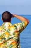 Jonge mens op vakantie Royalty-vrije Stock Afbeelding