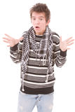 Jonge mens in paniek Stock Afbeeldingen