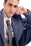 Jonge mens in reeks Stock Afbeelding