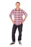 Jonge mens status Stock Foto's