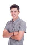 Jonge mens in studio stock afbeelding