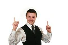 Jonge mens in vest Royalty-vrije Stock Foto's