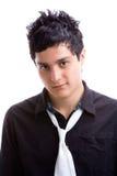 Jonge mens in zwart overhemd 1 Royalty-vrije Stock Foto's